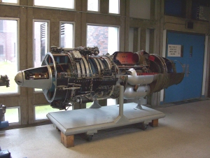 The Orenda jet engine (on display at Carleton University)