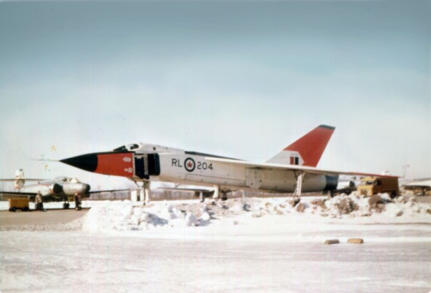 Avro Arrow with Avro Canuck in the background. Both used Orenda engines.