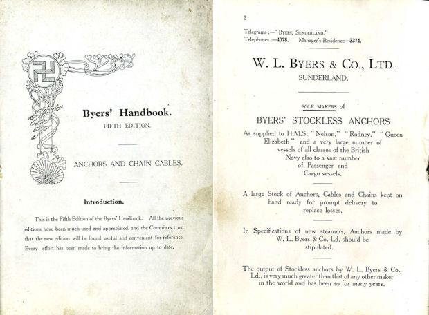 Byers Anchor Catalogue from the early 1900's with their logo clearly shown.