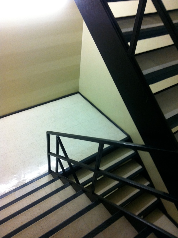 The Podium building's exit stairwells from the theatre to street level.