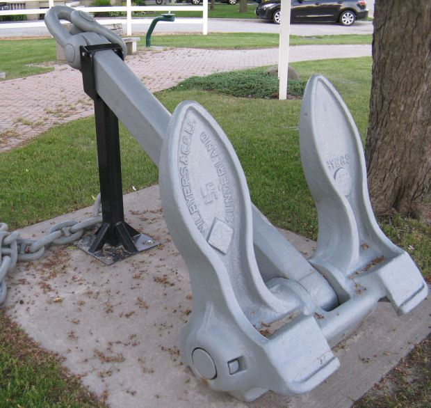 Byers anchor very similar to the Wahl anchor in Clayton, Ny. Note similar swastika marking.