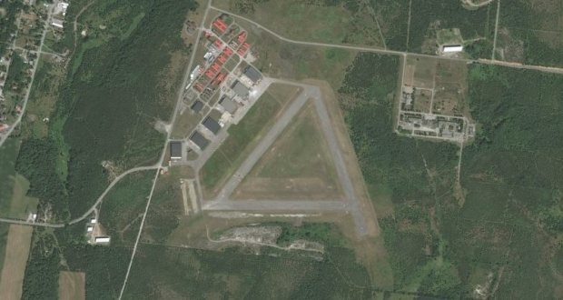 Aerial view of Camp Picton as it looks today, and the last possible resting place of the V2 rocket.