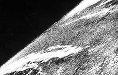 The very first image of space was taken from a captured V-2 rocket in 1946.
