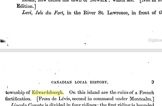 Excerpt from 1876 book mentioning ruins of a Fort near Prescott.