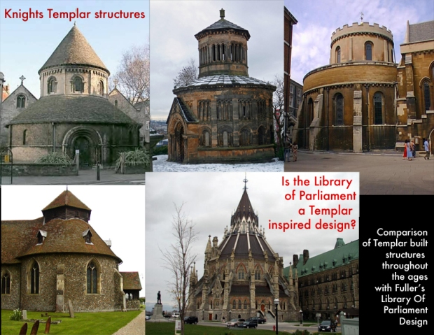 Comparison of Knights Templar structures and Ottawa's Library Of Parliament.
