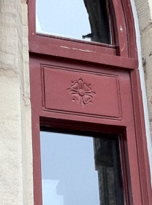 Every window of the Library is emblazoned with the symbol of the 4 petal rose.