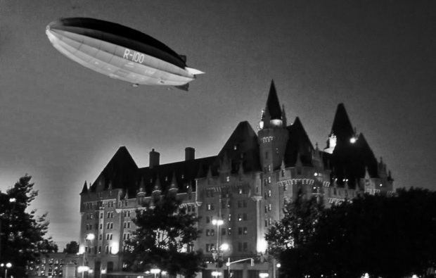 How the R100 may have looked as it hovered over the Chateau Laurier on the night of August 10 1930.