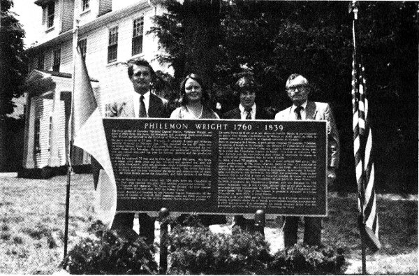 In 1980 a plaque, the largest free standing cast plaque in North America, was unveiled by the NCC and US State representative's in Wright's hometown of Woburn, Mass.