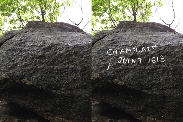The inscription was hard to read, but using the outlines in the rock I have enhanced what was carved into the rock.