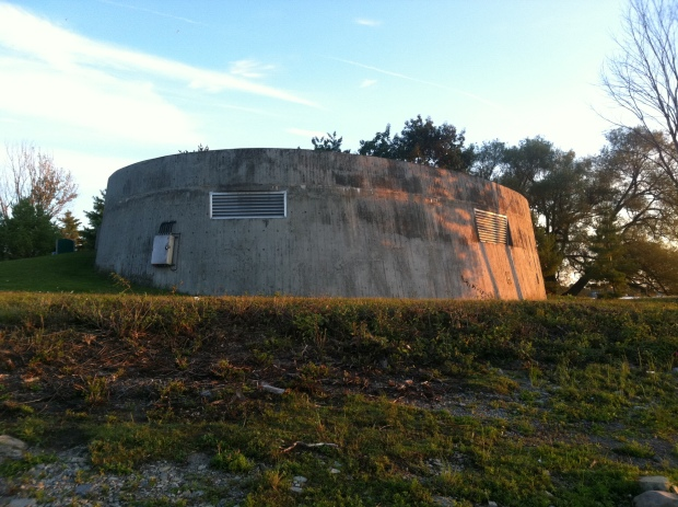 The mysterious concrete bunker at Remic Rapids has perplexed many a passerby.