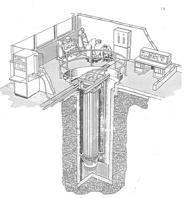 Sketch from The Canadian Associastion Of Mechcical Enginners of what the Tunney;'s Pature nuclear reactor looked like.