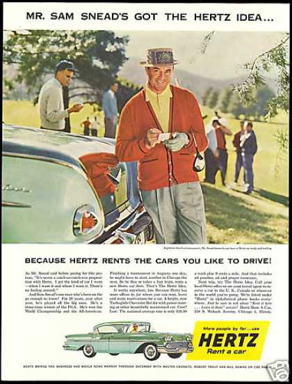 Commander James Bond has to rent a car for the two hour drive to Ottawa. He does so from Hertz Car Rental at the Montreal Airport. This is an authentic 1959 Hertz car rental ad.