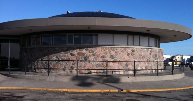 Detail of stonework on Kohl's rest stop. (photo: Google StreetView)
