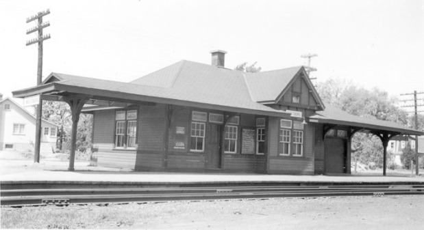The Canadian Pacific Railway Station in Westboro at the end of Roosevelt St.