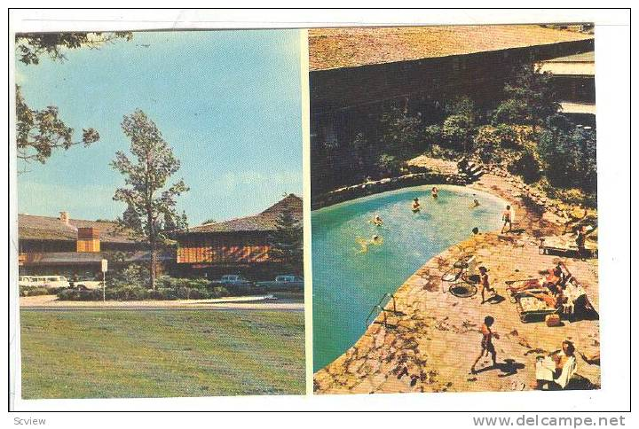Original 1960s postcard of the Talisman Motor Inn that contained the Beachcomber Room