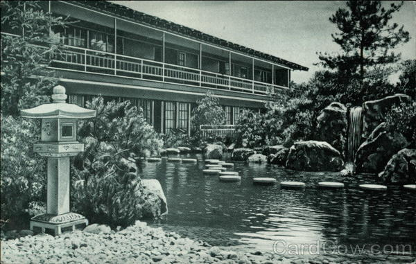 Original postcard of the Talisman central Japanese Garden...