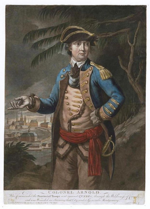 Benedict Arnold, who destroyed the fort in 1776.