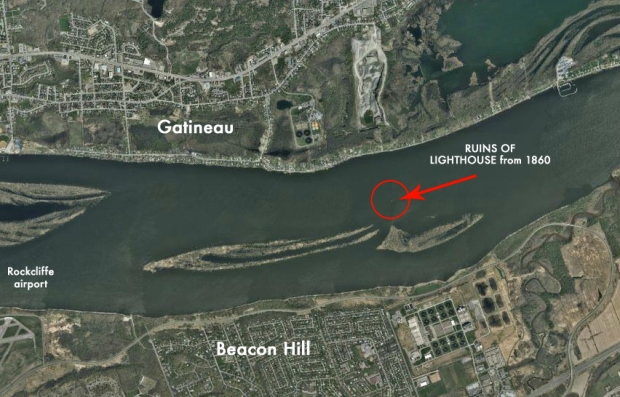 The location of the ruins of the lost lighthouse that gave Beacon Hill its name.
