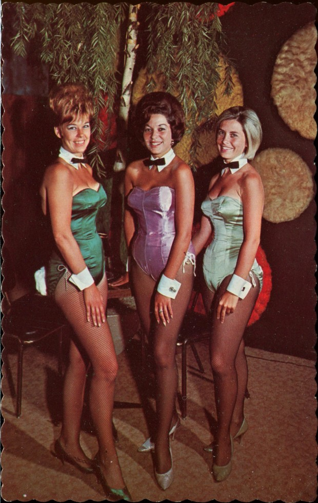 "A 1968 postcard shows Ottawa's ""bunnies"" as they appeared at The Riverside Hotel in Vanier."
