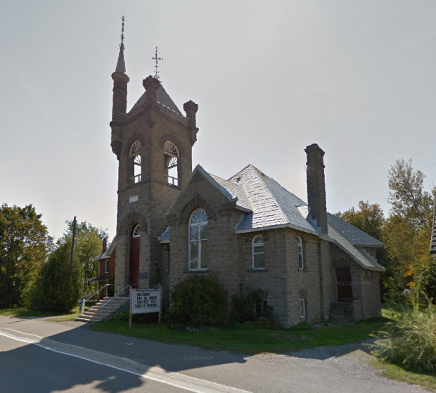 St. Paul's church, built in 1901-02, sits prominently along Highway 15 in Franktown, On