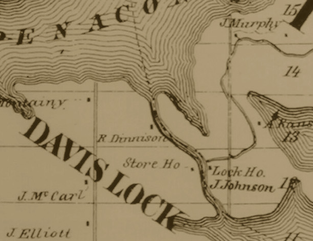 A map from 1880 shows the area and a