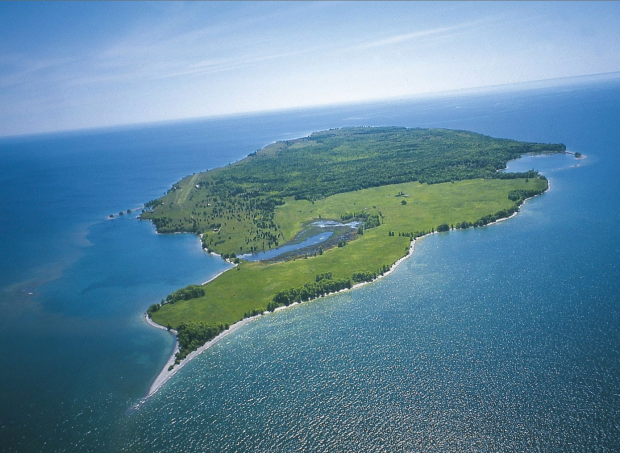 "The ""large beautiful islands"" Champlain makes note of oin his journal as he crossed the eastern end of the lake were lost likely Wolfe Islands, Galoo and Stony Islands to name a few."