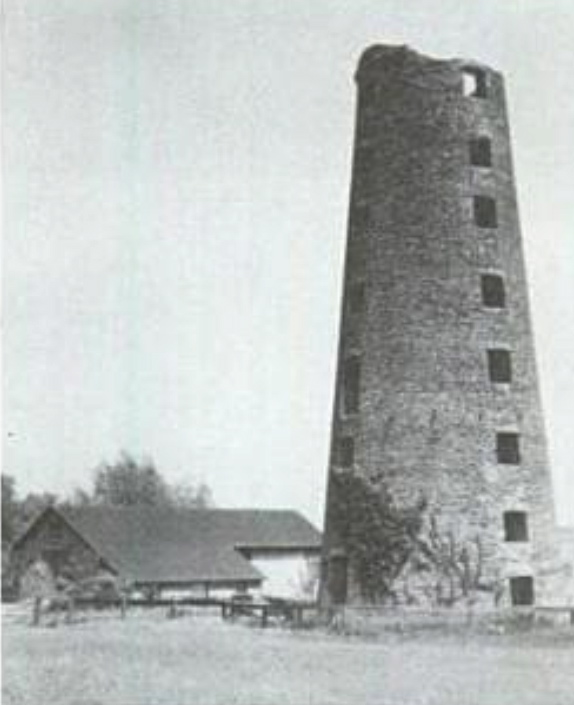 An early 20th century photo of the tower. It was abandoned in