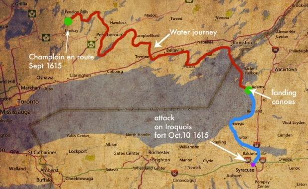 The complete route I believe Champlain took in 1615.