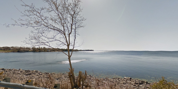 The gap where I think Champlain went through to go across Lake Ontario.
