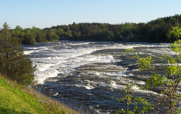 Some of the rapids Champlain mentions in his journal on the Trent River.