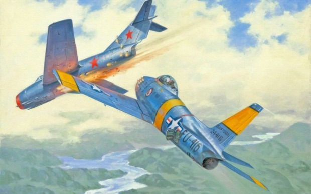 ERnie Glover shot down 3 MiG fighters and was awarded the Distingusihed Flying Cross by the Americans for his service in Korea.