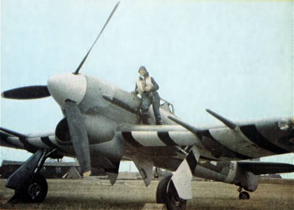 Ernie Glover then moved into the more formidable Hawker Typhoon, but was peter shot down over France.