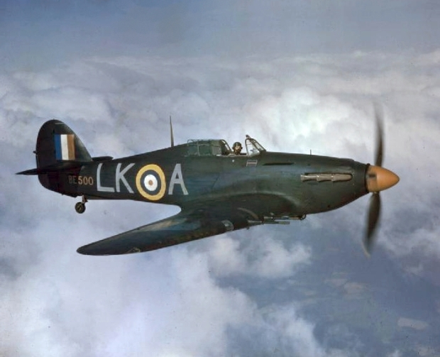 Ernie Glover entered air combat during World War II flying night fighter missions in a Hawker Hurricane.