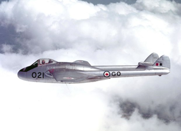 Upon being freed from prison camp in Germany, Ernie returned to Canada and in 1951 flew Vampire jets in Ottawa.