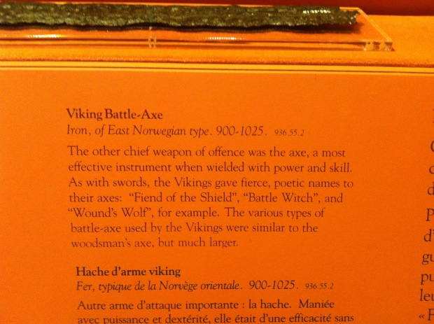 Description of the Beardmore axe.