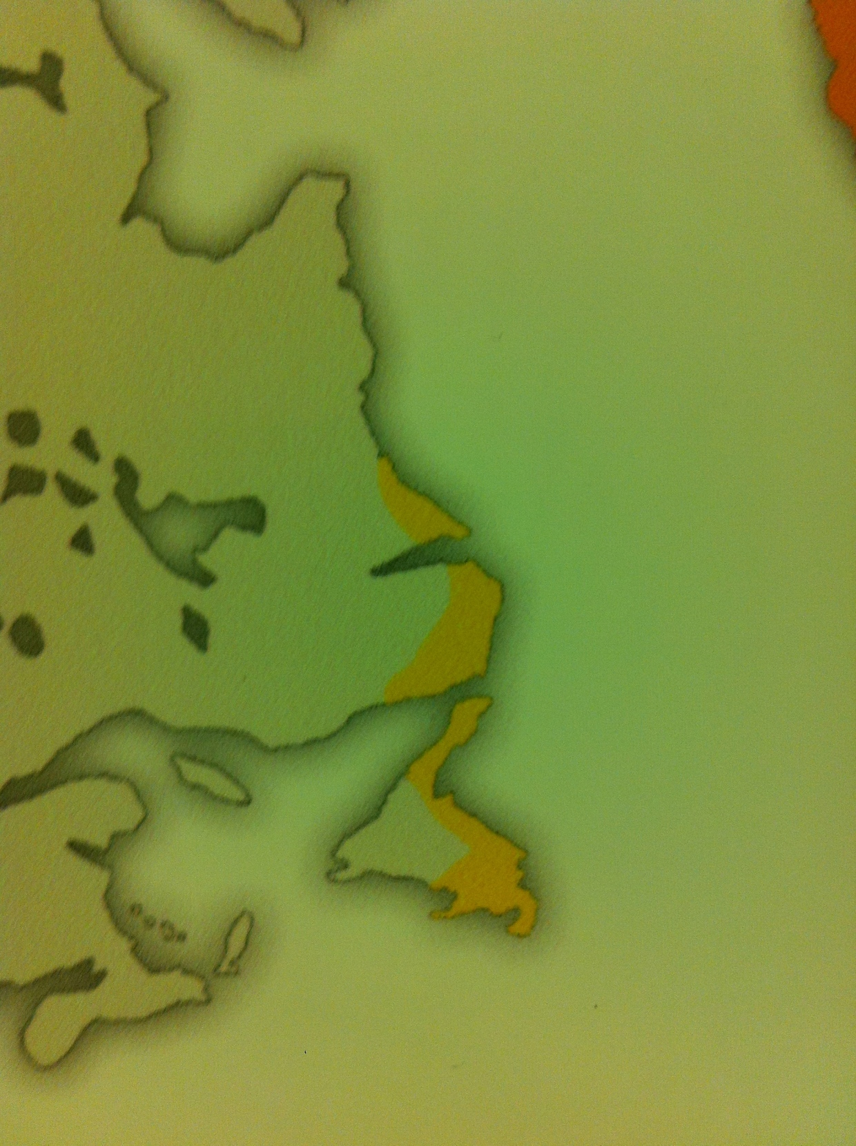 The only Viking-Canada connection is this small map detail showing where Vikings may have settled in Canada.