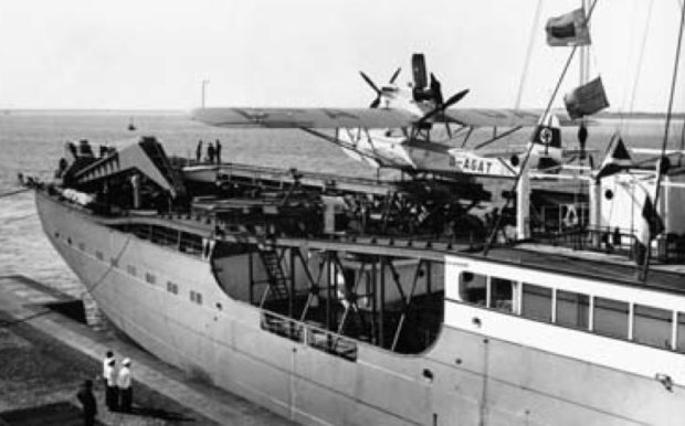 Dornier Do 15 seaplanes aboard the Nazi expedition ship.