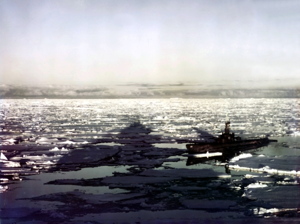 A US sub in Antarctica waters as part of Operation Highjump. (photo: Wikipedia)