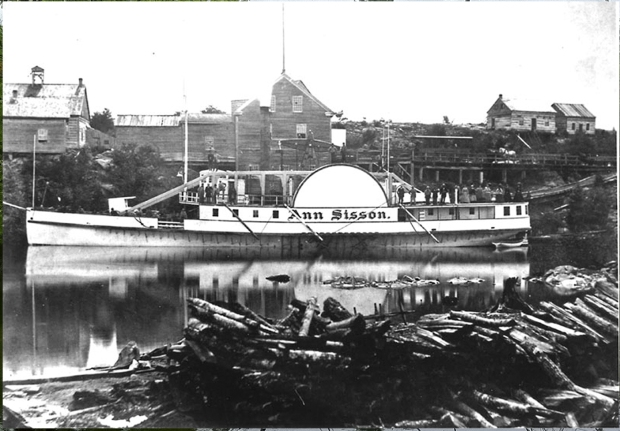 Anne Sison-docked at Pontiac, Qc-Credit: Library and Archives Canada